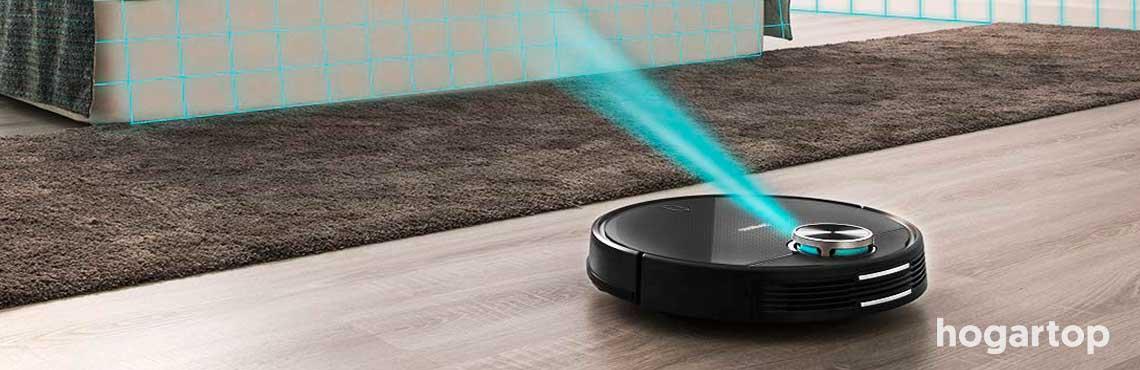 Tecnolog/ía de movimiento antiadherente Silencioso anti ca/ída para suelos de madera dura N//E Robot aspirador cuidado del cabello de mascotas aspiradora rob/ótica y mopa Super Slim azulejos
